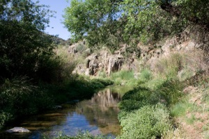 A Beautiful Desert Stream Runs Through the Heart of Dewey-Humboldt, Arizona.