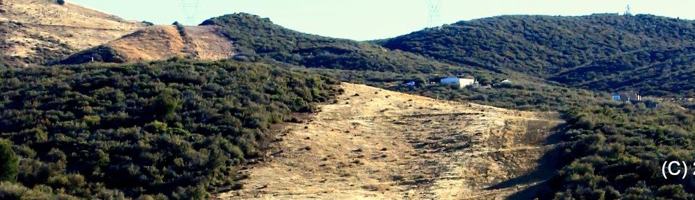 New Pipeline in Central Arizona. Native Chaparral removed.