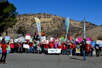 Porter Ranch activists opposing fossil fuels.