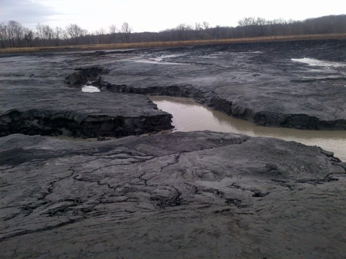 Duke Energy's eroding ash deposits on the Dan River.