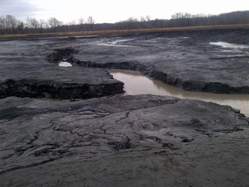 Duke Energy's eroding ash deposits on the Dan River.